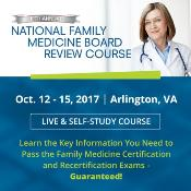 National Family Medicine Board Review: , USA, 12-15 October 2017
