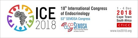 18th International Congress of Endocrinology: Cape Town, South Africa, 1-4 December 2018