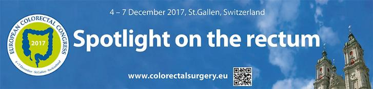 European Colorectal Congress 2017: St. Gallen, Switzerland, 4-7 December 2017