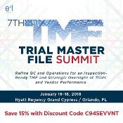 7th Trial Master File Summit: Hyatt Regency Grand Cypress, One Grand Cypress Blvd., Orlando, 32836, United States, 16-18 January 2018