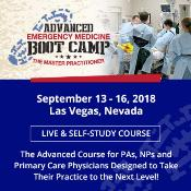 Advanced Emergency Medicine Boot Camp: Las Vegas, Nevada, USA, 14-16 September 2018