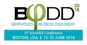 5th NovAliX Conference - Biophysics in Drug Discovery 2018: Boston, Massachusetts, USA, 13-15 June 2018